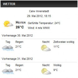 wp-forecast Wetter Plugin für WordPress