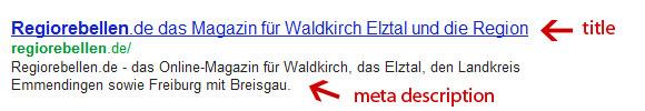 Meta Tags in Suchmaschinenanzeigen
