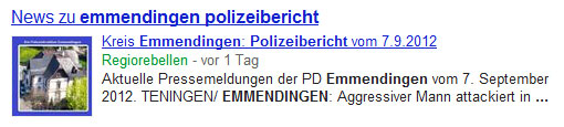 Google News in den Serps