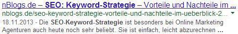 SEO: So wird der Title in der Suchmaschine Google ausgegeben