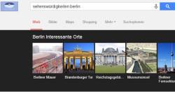 """Google Carousel zum Suchbegriff """"Sehenswürdigkeiten Berlin"""""""