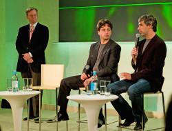 Eric Schmidt, Sergey Brin und Larry Page von Google
