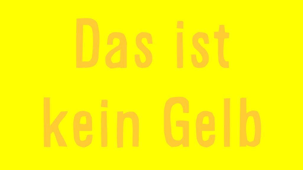 Video: Das ist nicht gelb! / Farben