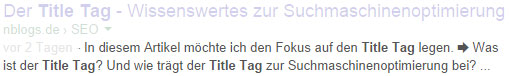 Meta Description Beispiel