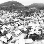 Schwarz-Weiß: Hirsau Luftaufnahme