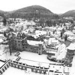 Schwarz-Weiß: Hirsau mit Kloster