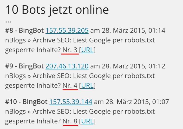 BingBot ignoriert die robots.txt