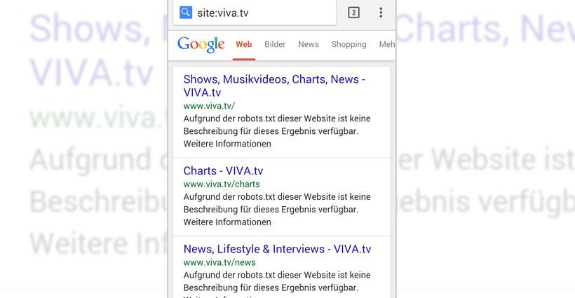 viva.tv und die robots.txt-Datei: Wie man es nicht machen sollte…