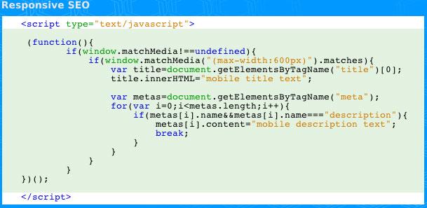 Responsive SEO: Title und Meta Desciption Anpassung per Javascript