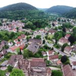 Calw Hirsau Luftfotografie - Hirsau vom Kloster aus gesehen