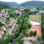 Calw Hirsau Luftfotografie - von Calw aus kommend