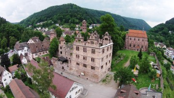 Calw Hirsau Luftfotografie - Jagdschloss mit Klosterruine