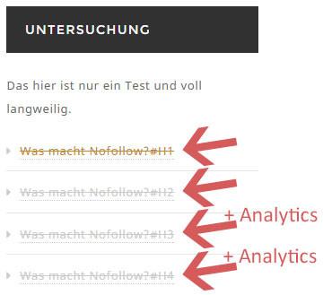 Nofollow Test in der Sidebar von nextlevelSEO.de