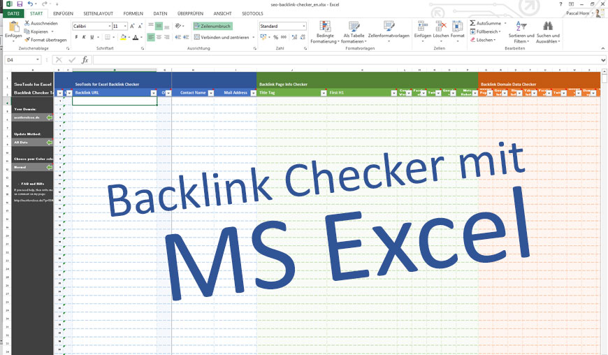 SeoTools for Excel: Backlink Checker mit Excel (Download)