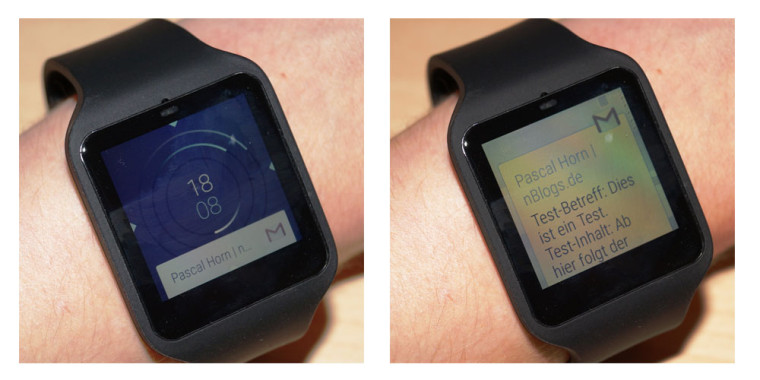 E-Mail Notification auf der Smartwatch