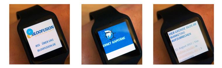 Smartwatch Webbrowser Beispiel: Die Internetkapitäne