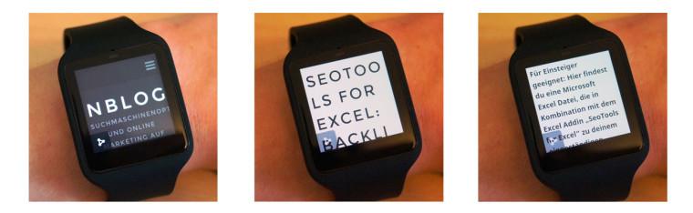 Smartwatch Webbrowser Beispiel: nextlevelseo.de
