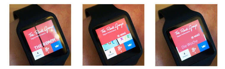 Smartwatch Webbrowser Beispiel: The Reach Group