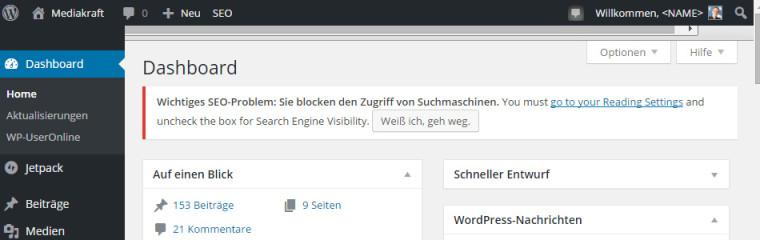 Yoast Fehlermeldung: Suchmaschinen werden blockiert