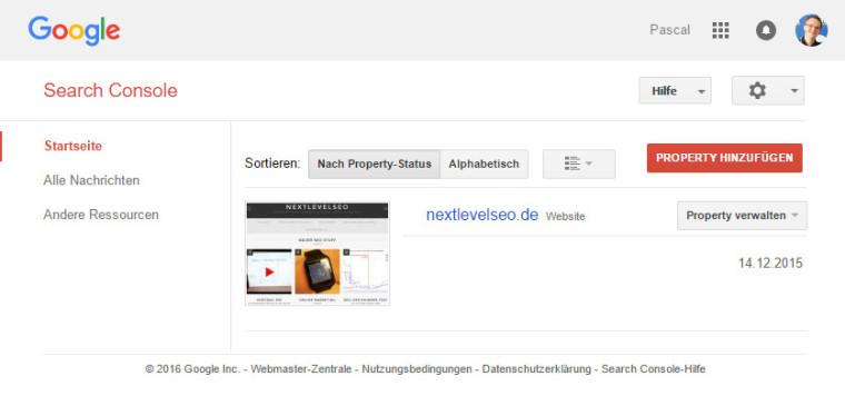 Google Search Console Überblick