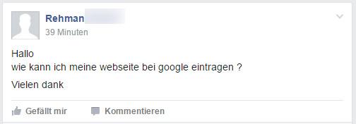 Berechtigte Frage: Wie kann man seine Website in Google eintragen?