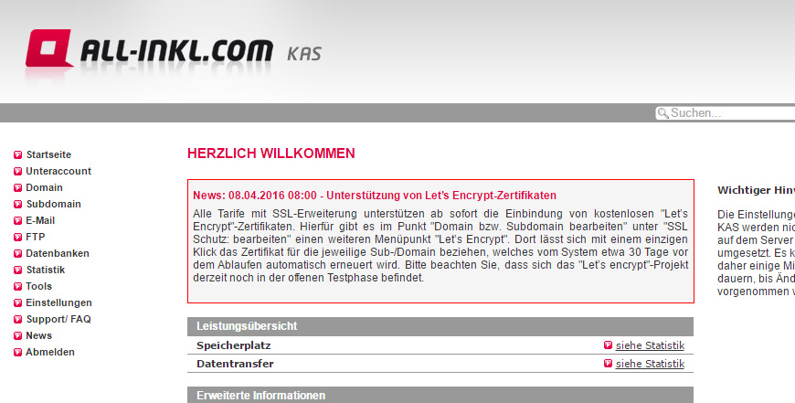 SEO: WordPress bei ALL-INKL.com auf Let's Encrypt HTTPS Zertifikat umstellen (SSL)