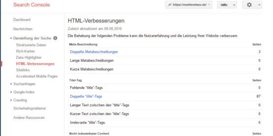 Mit der Google Search Console internen Duplicate Content entdecken