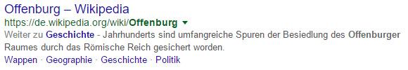 """Suchergebnis zu """"Offenburg"""": Wikipedia mit Ankerlinks"""